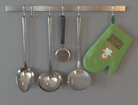 Ladles hanging up