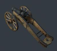 cannon 3d obj