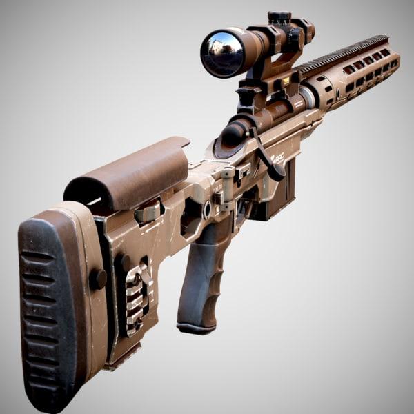 rifle remington 700 racs 3d model