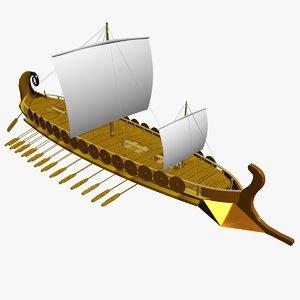 3ds max sailing ship greeks