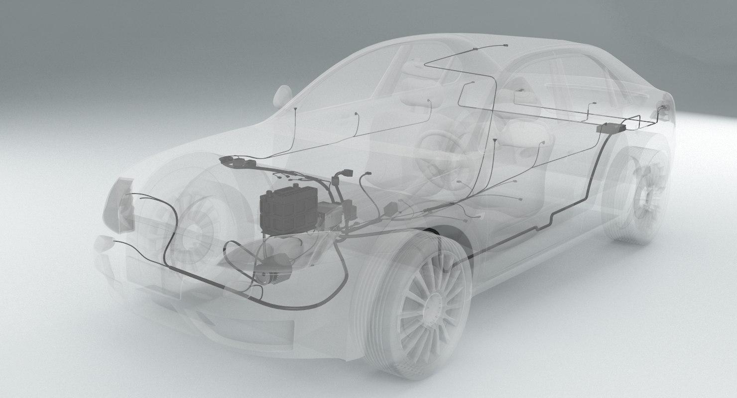 car wiring 3d max