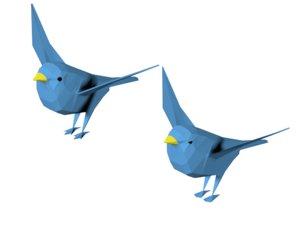 free obj mode bird quad triangles