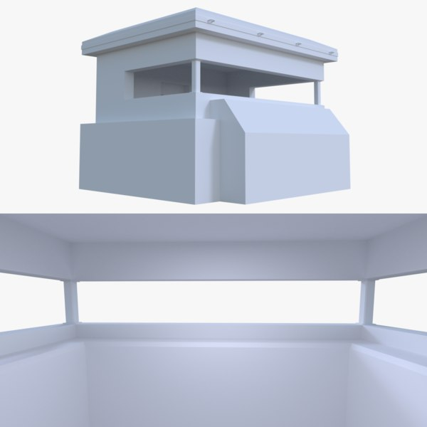 bunker blender post 3d fbx