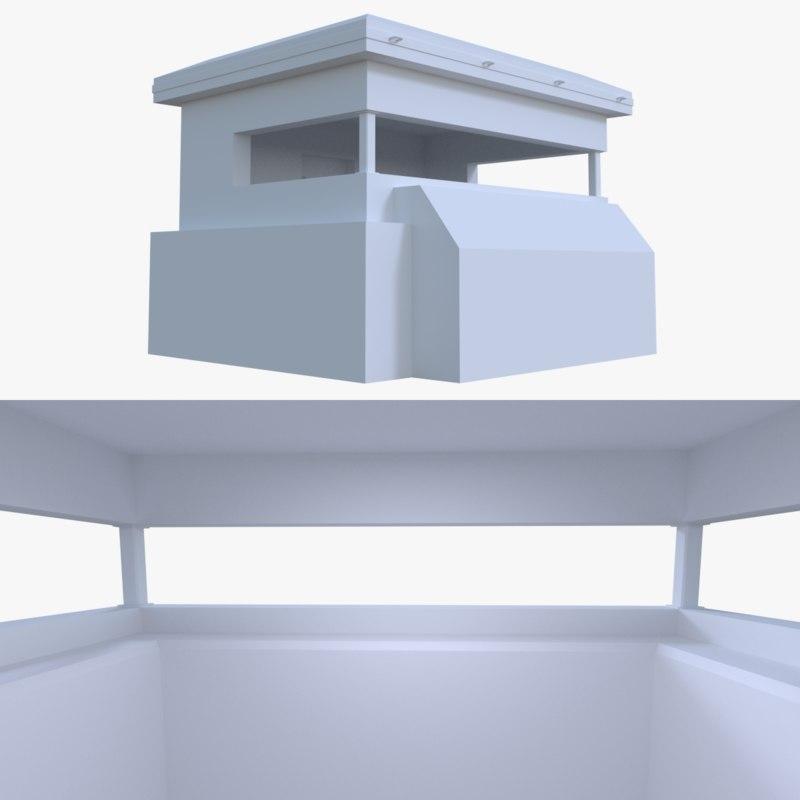 bunker blender post 3d fbx