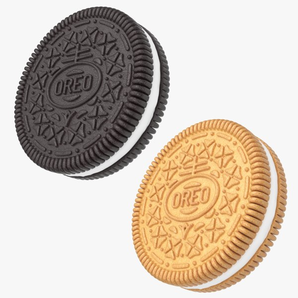 realistic oreo cookies 3d max