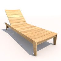sun lounger - flatwood 3ds