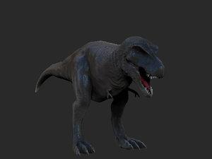 free t-rex zbrush 3d model