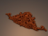 ornament relief 3d model
