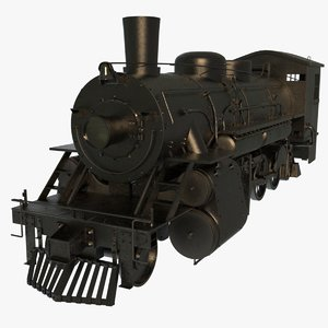 steam train engines 3d obj