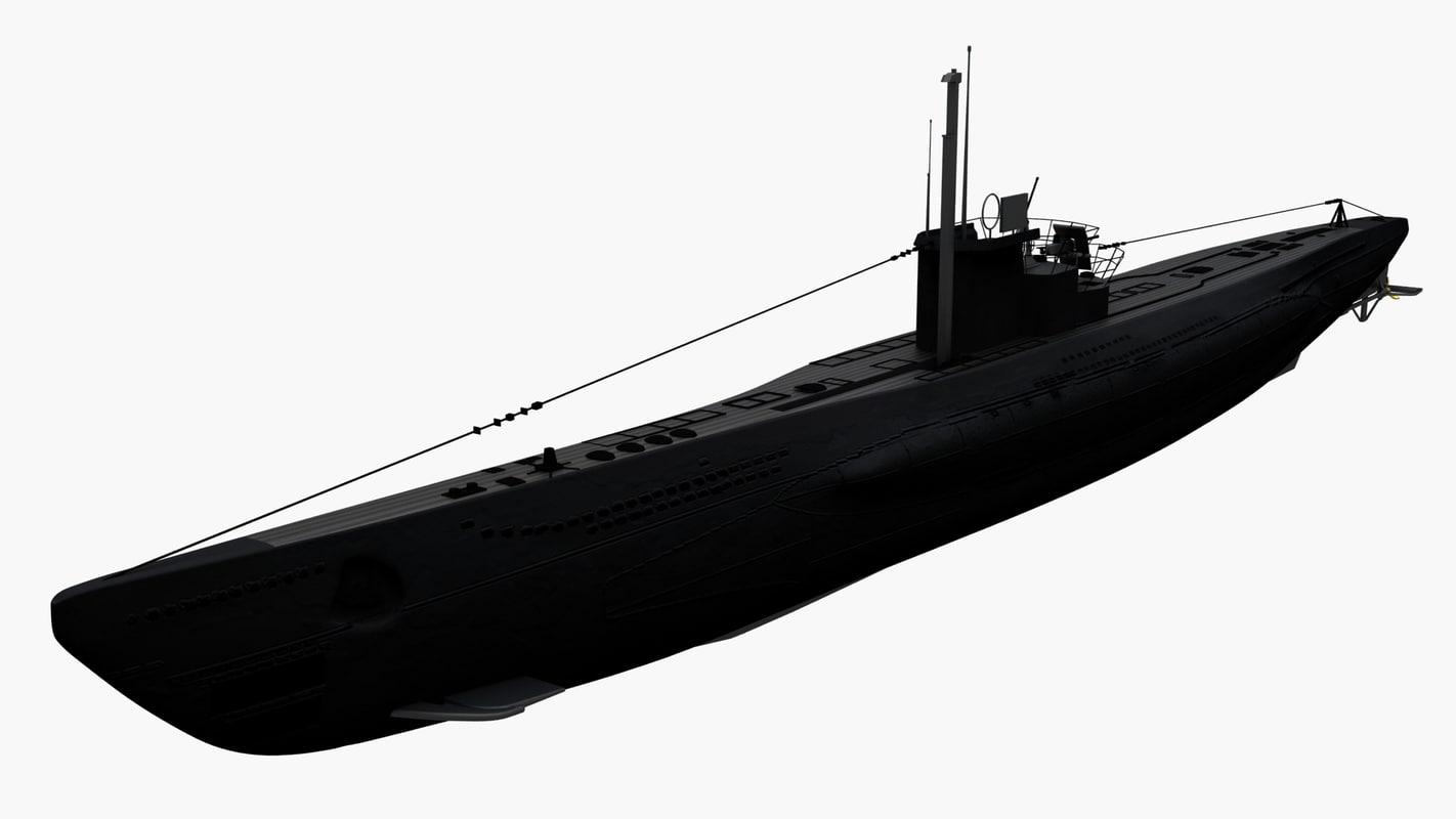 3d u-boat vii c boat