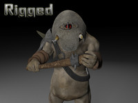 armoured cyclop 3d model