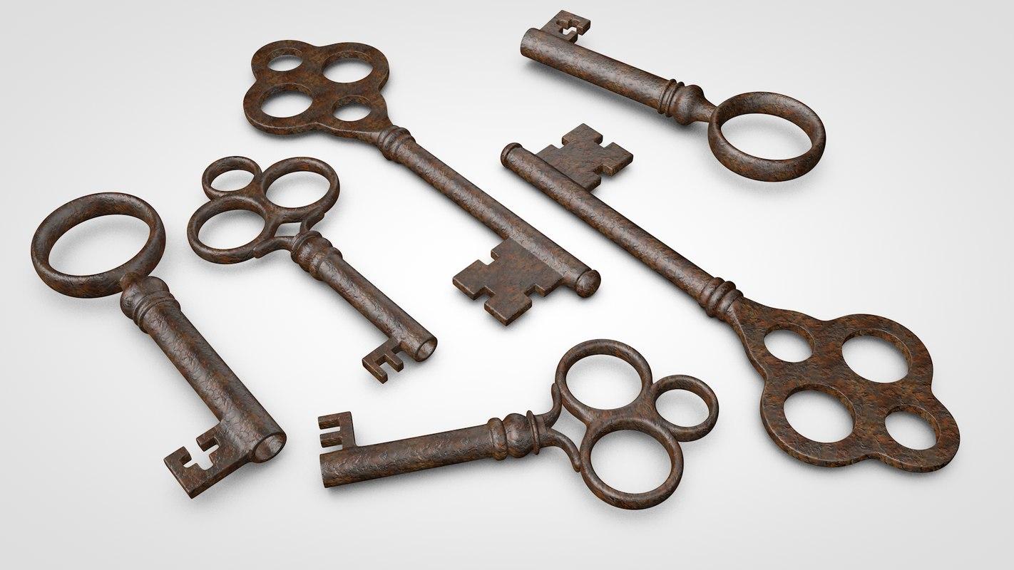 old keys 3d c4d
