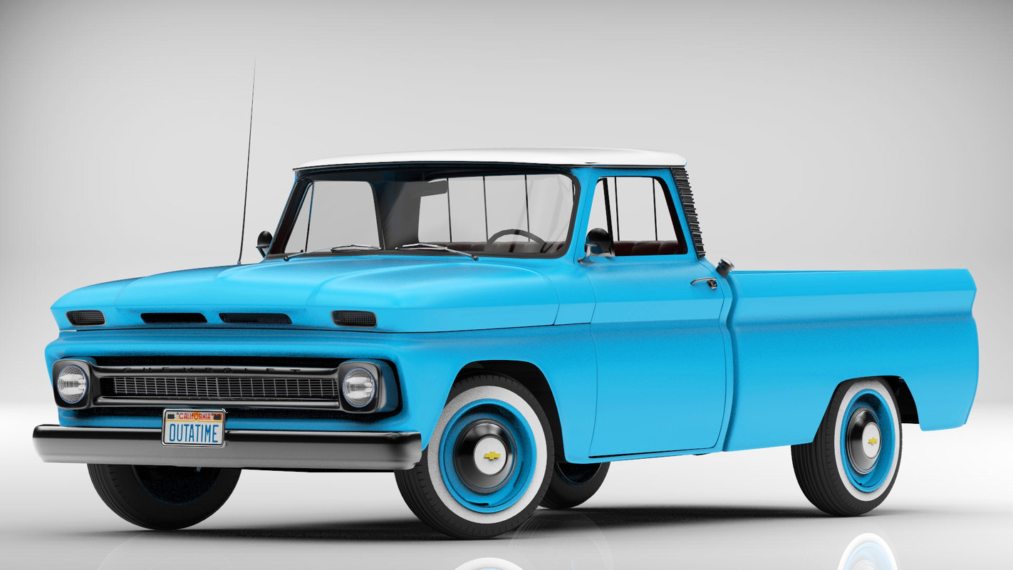 chevrolet pickup 1966 3d model. Black Bedroom Furniture Sets. Home Design Ideas
