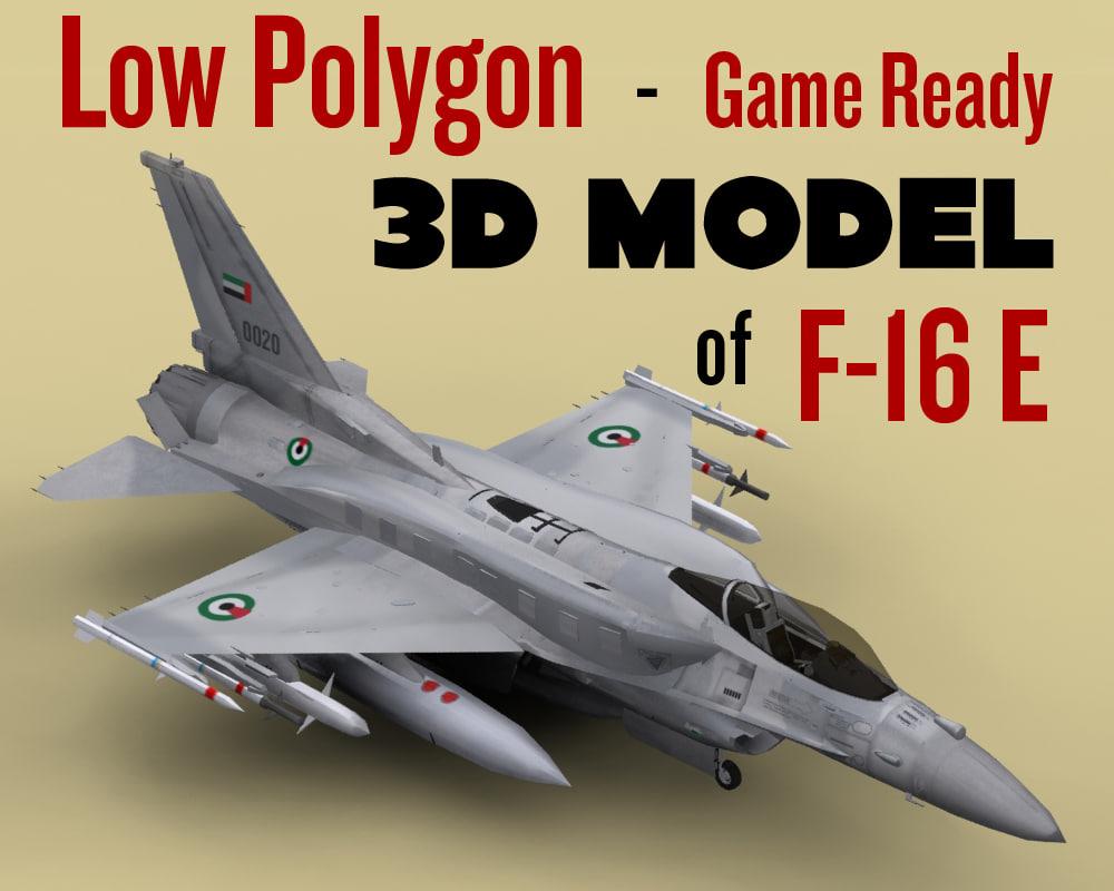3d model f-16e games