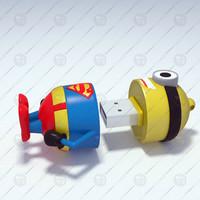 3d model minion usb drive