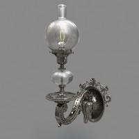 antique oil lamp c4d