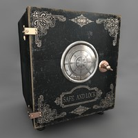 3d model of antique safe