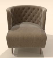 3d armchair fado