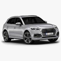 2017 audi q5 interior 3d model