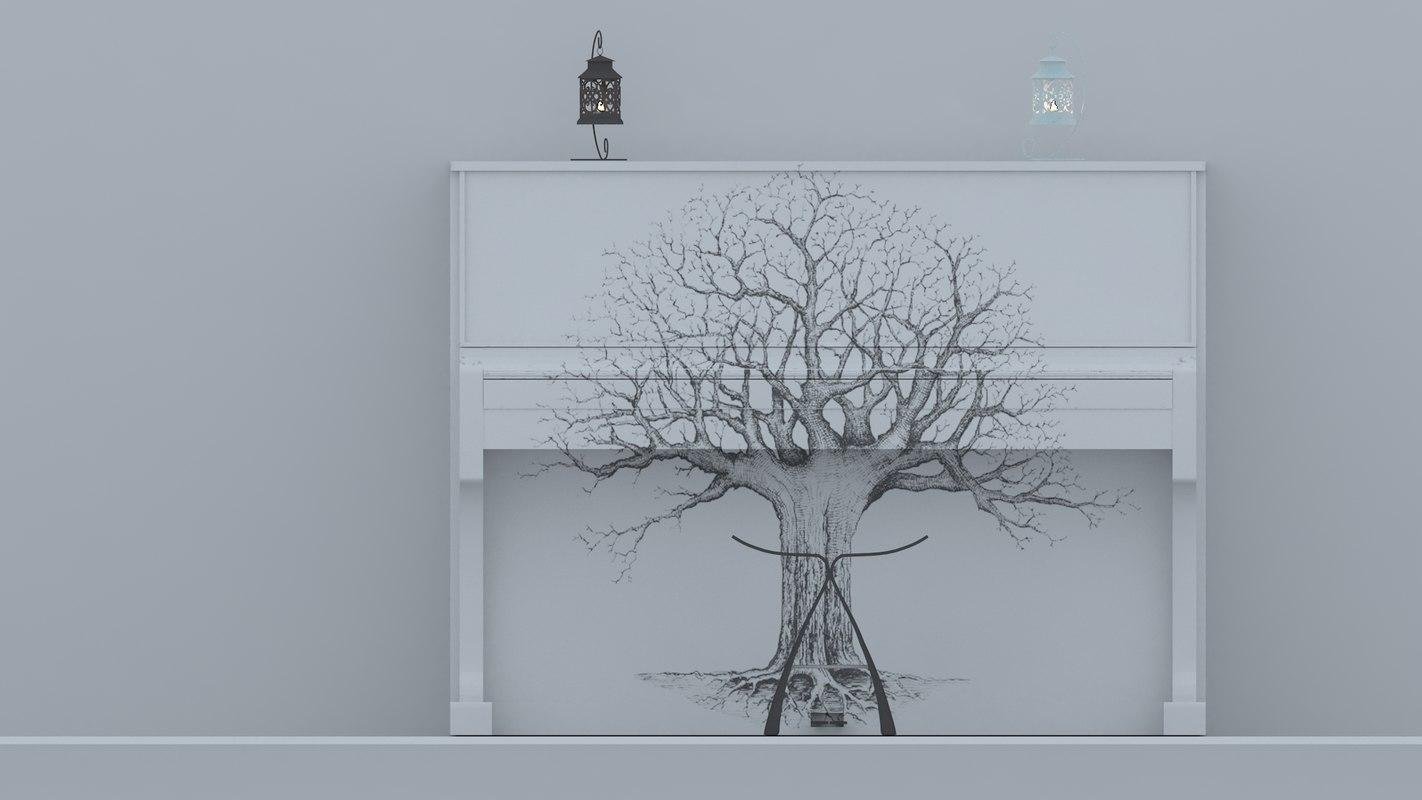 lamp piano 3d max