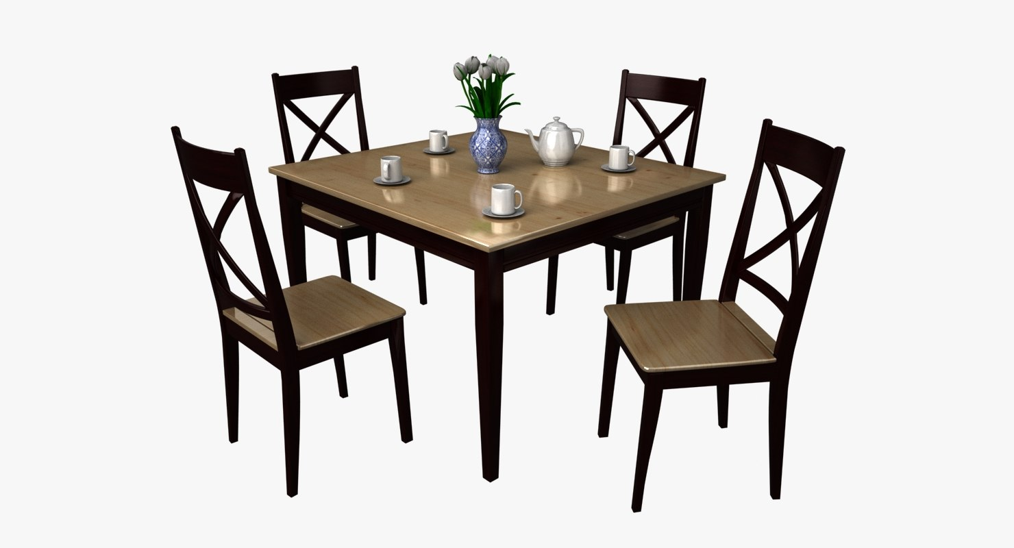 dining kitchen table set 3d ma
