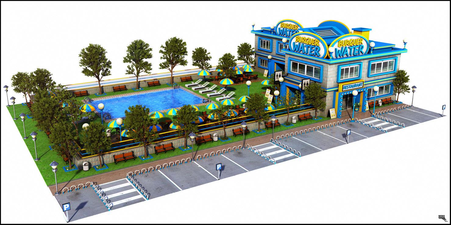 3d restaurant big