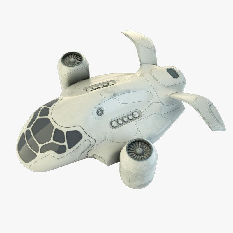 3d model of cruiser futuristic spaceship
