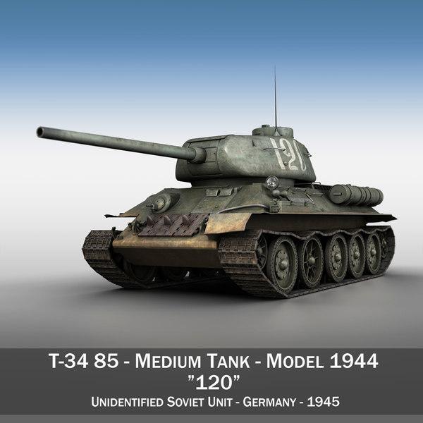 3d t-34 85 - soviet model