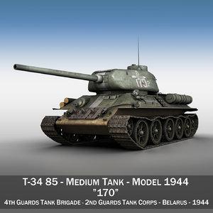3d 3ds - t-34 soviet medium