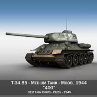 T-34 85 - Soviet medium tank - 400