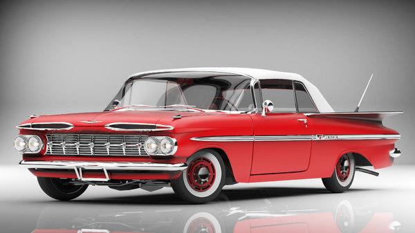 chevrolet impala 1959 3d model
