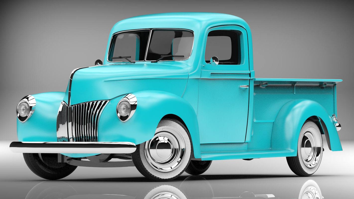 3d model pickup 1940