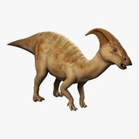 3d obj parasaurolophus parasaur