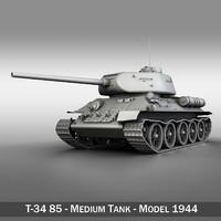 t-34 85 - soviet 3ds