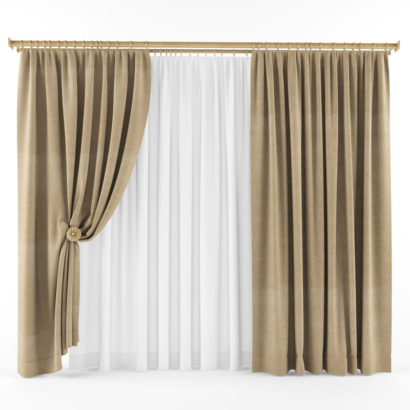 3d model curtains blinds