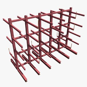 modular storage rack obj