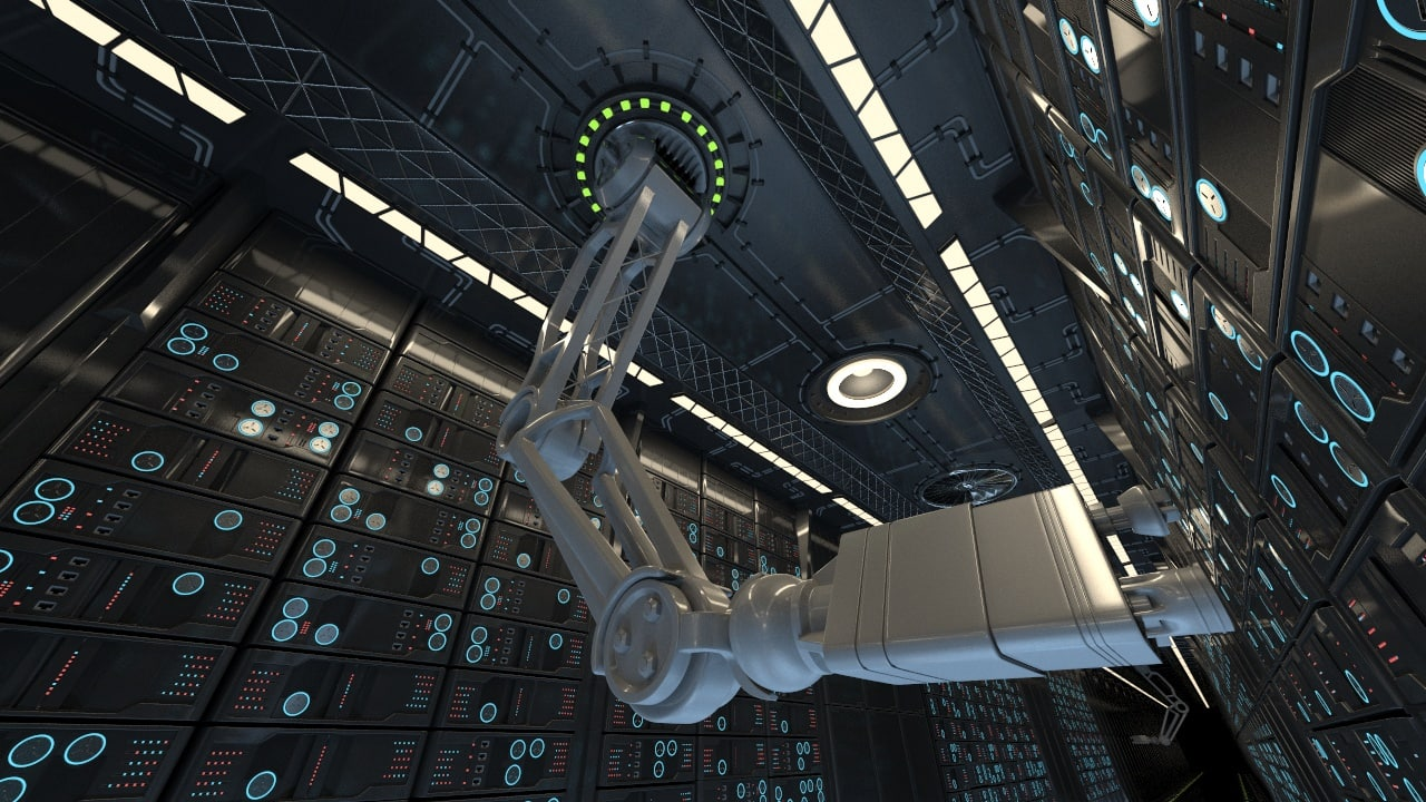 3d sci fi robot arm model