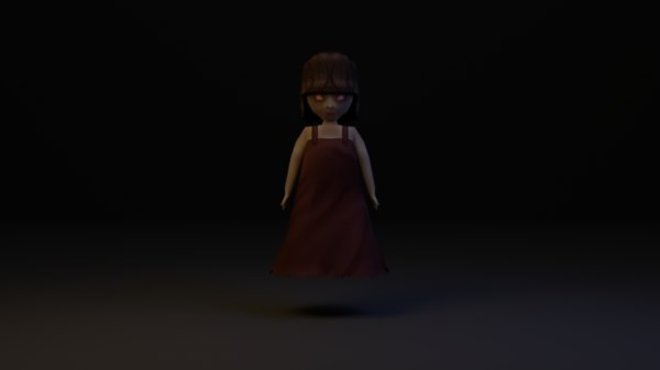 3d model girl ghost