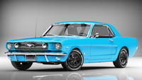 3d model mustang 1964