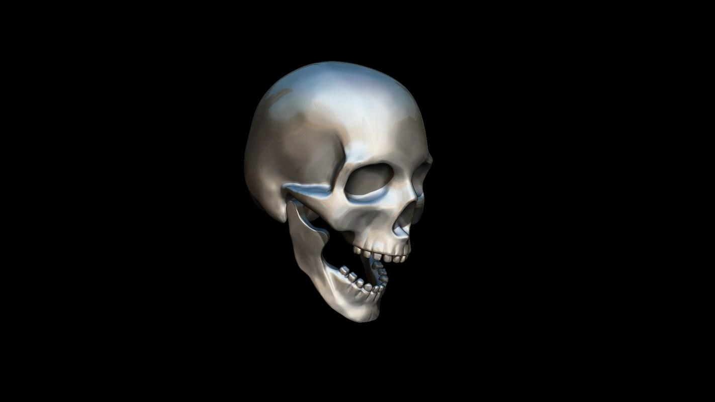 Realistic Skull Pendant 3d Model