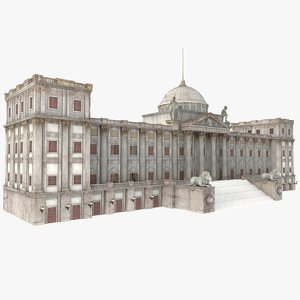 european romantic palace 3d model