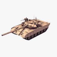 t90a battle tank 3d model