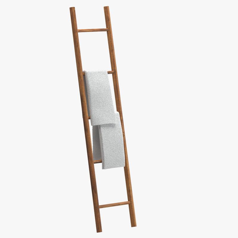 3d towel ladder model