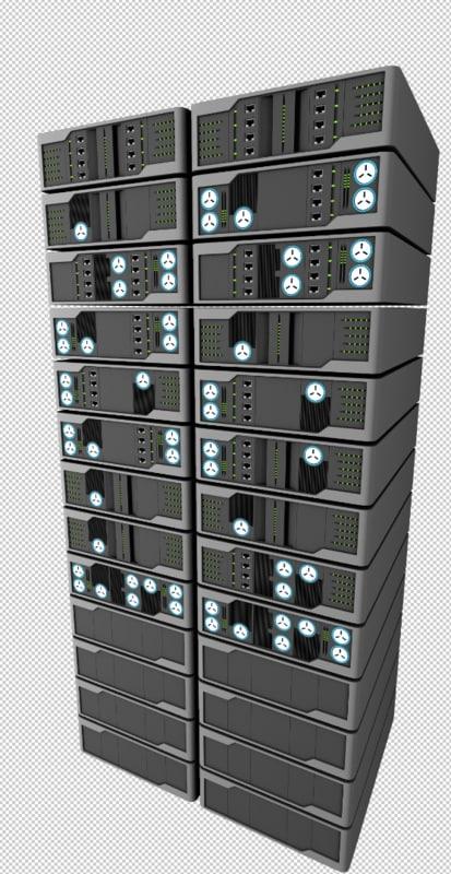 server rack modelling materials 3d max