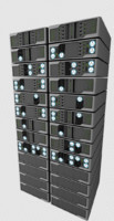 Server Rack 3d model. Vray materials included