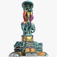 ready hindu statue 3d max