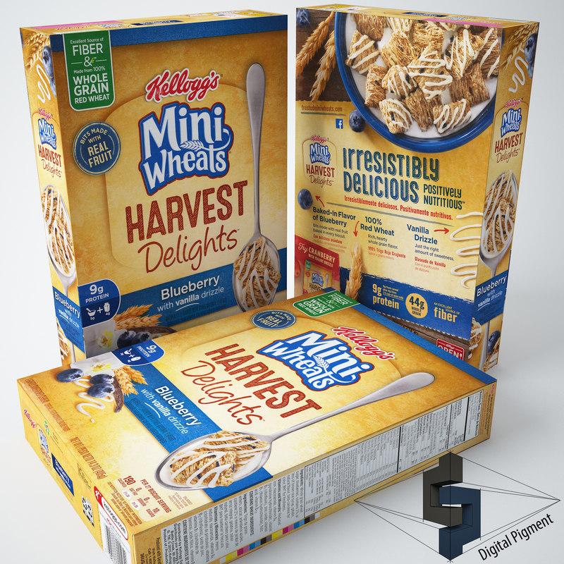 3d 3ds mini wheats harvest delights