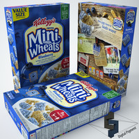 mini wheats blueberry 3d max