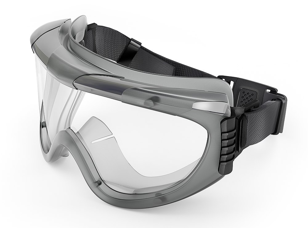 3d model of safety glasses workers