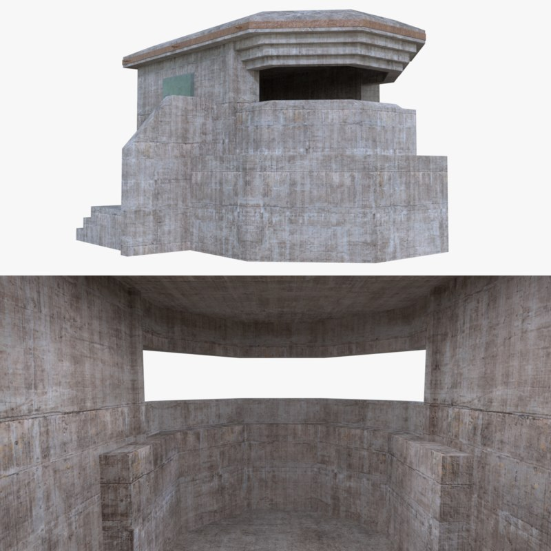 3d bunker blender post